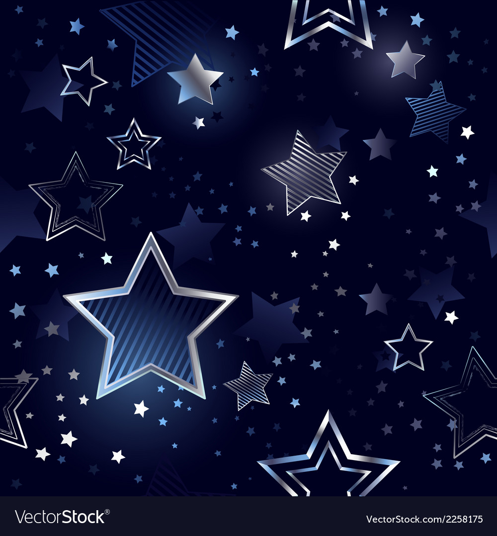 Seamless background with silver stars vector | Price: 1 Credit (USD $1)