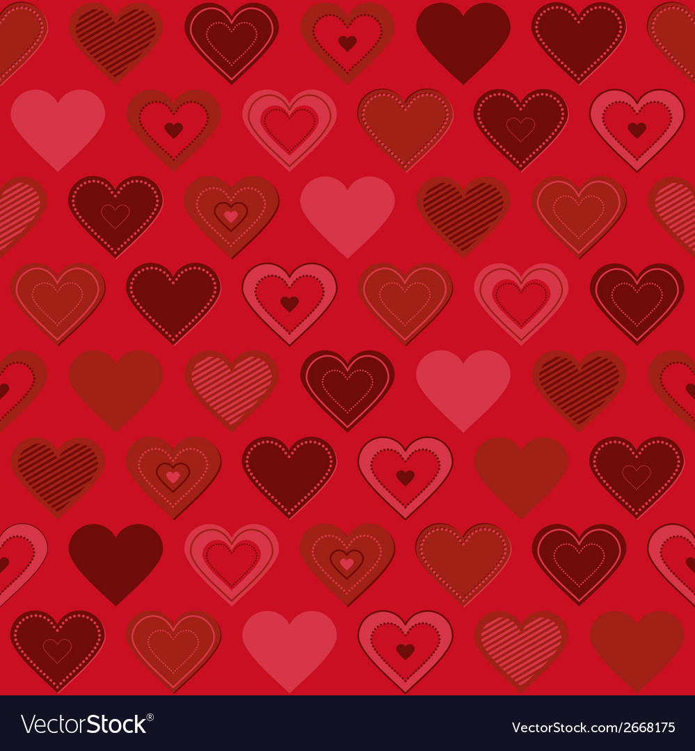 Seamless pattern with hearts vector   Price: 1 Credit (USD $1)