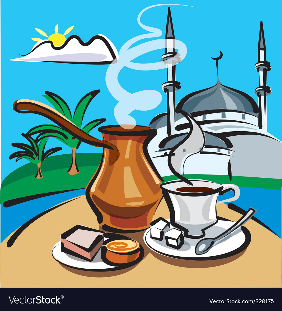 Turkish coffee vector | Price: 3 Credit (USD $3)