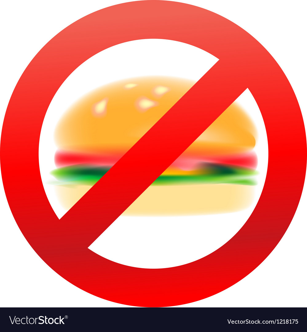 Unhealthy food hamburger vector | Price: 1 Credit (USD $1)