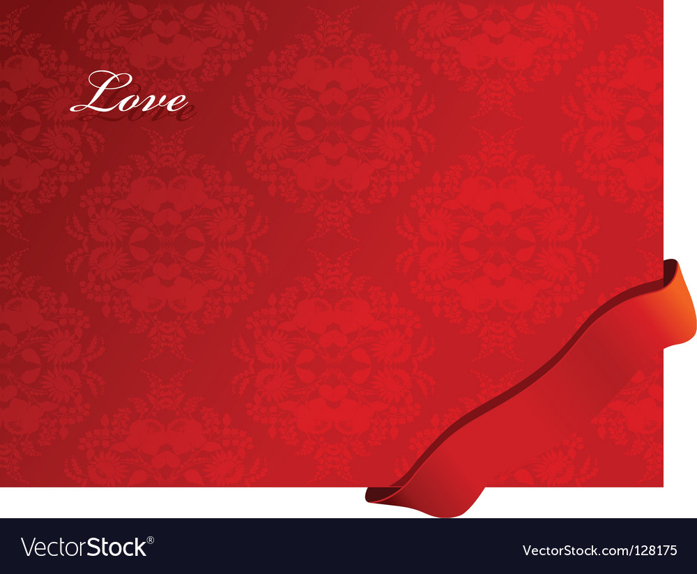 Valentine background with ribbon vector | Price: 1 Credit (USD $1)