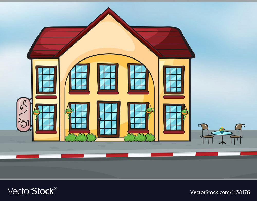 A large house vector | Price: 1 Credit (USD $1)