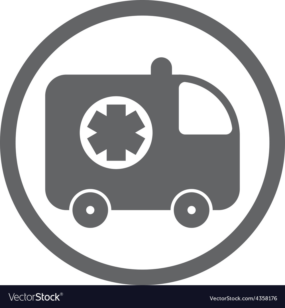 Ambulance car icon isolated vector   Price: 1 Credit (USD $1)