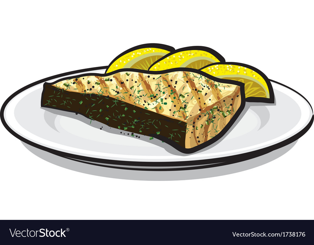 Baked fish vector | Price: 1 Credit (USD $1)