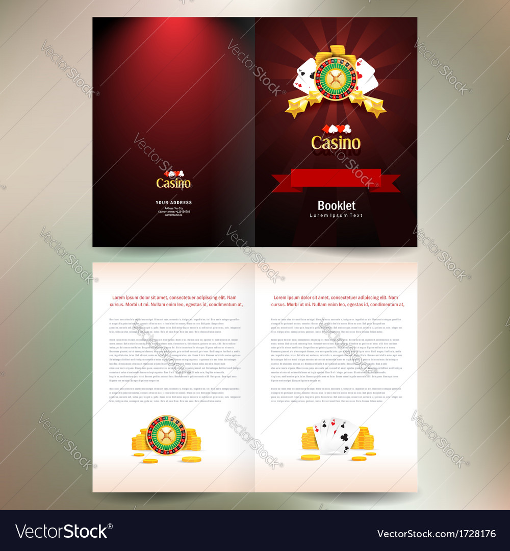 Booklet brochure folder casino european roulette vector | Price: 1 Credit (USD $1)
