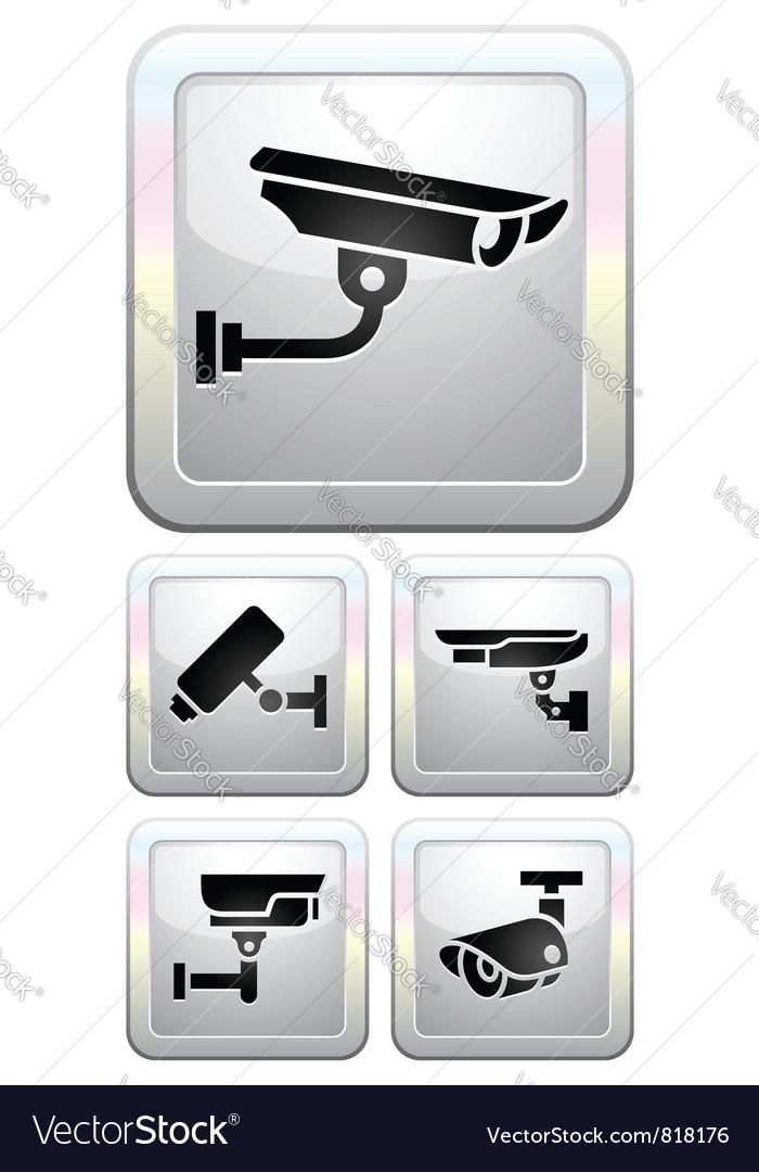 Cctv labels video surveillance vector | Price: 1 Credit (USD $1)