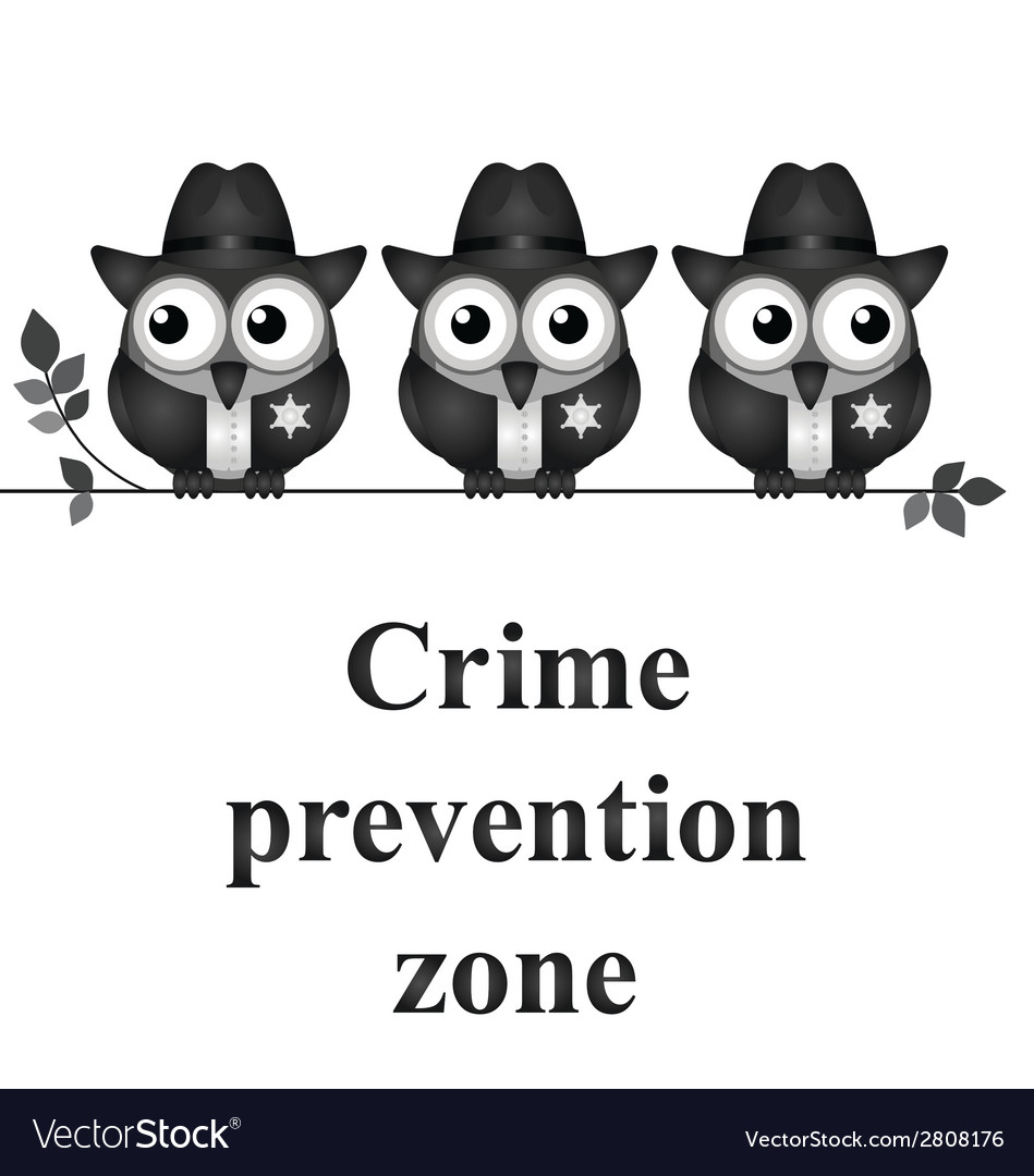 Crime prevention zone vector | Price: 1 Credit (USD $1)