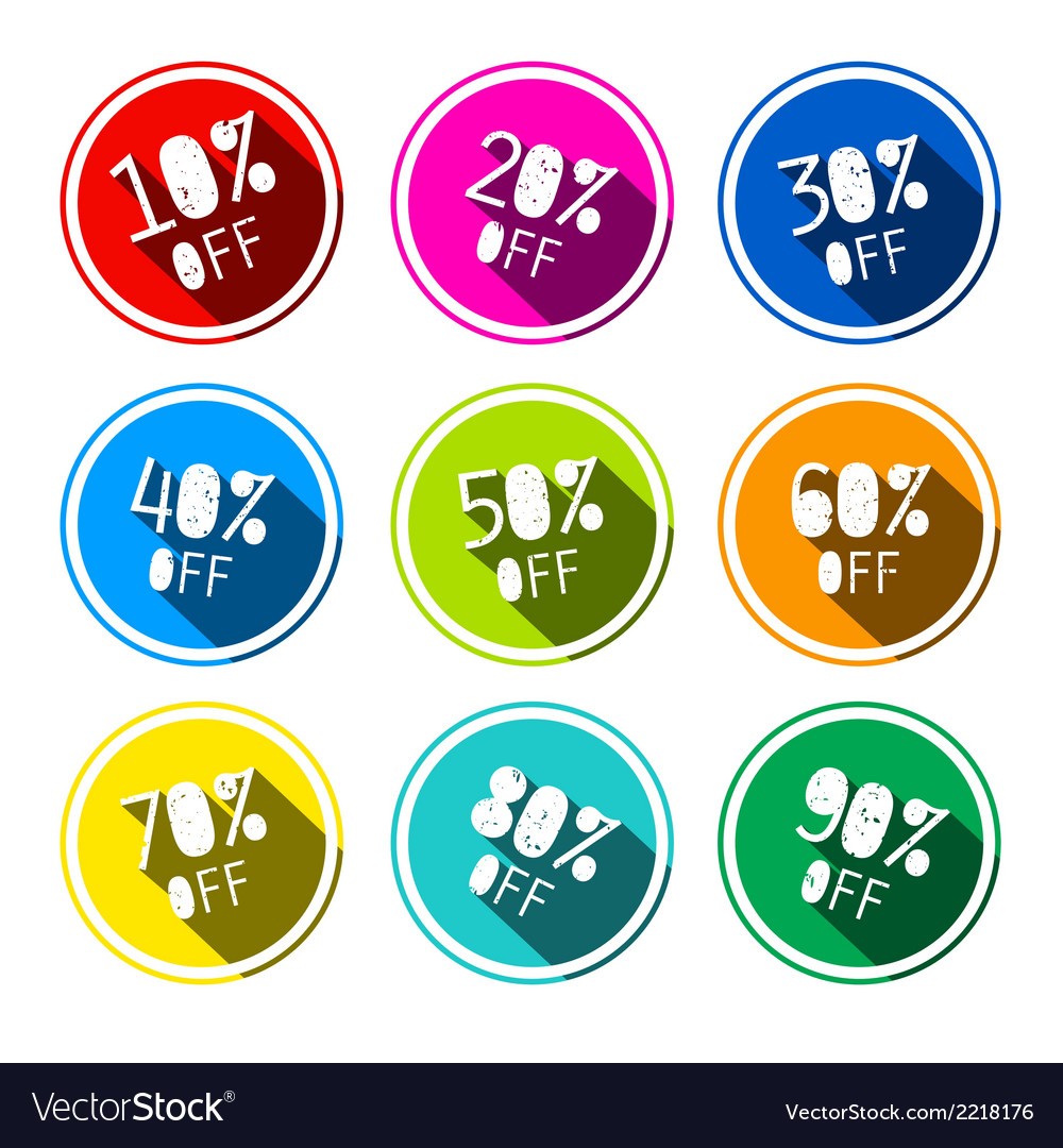 Discount stickers - labels set vector | Price: 1 Credit (USD $1)