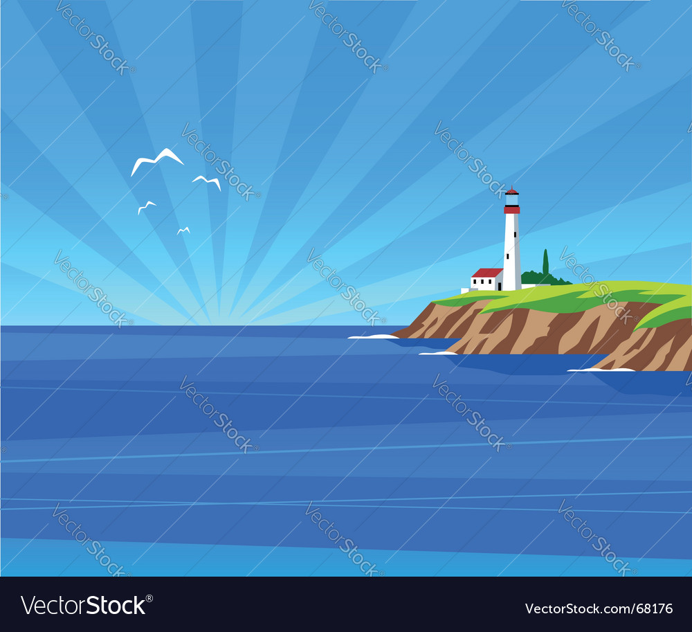 Lighthouse day vector | Price: 1 Credit (USD $1)