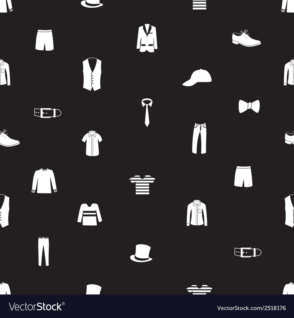 Mens clothing icon pattern eps10 vector | Price: 1 Credit (USD $1)