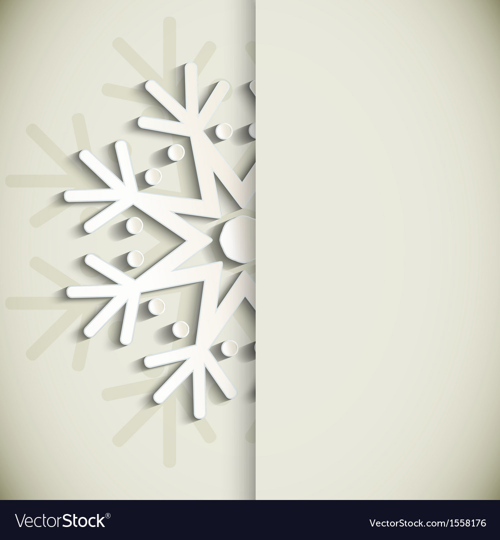 New year snowflakes greeting card vector | Price: 1 Credit (USD $1)