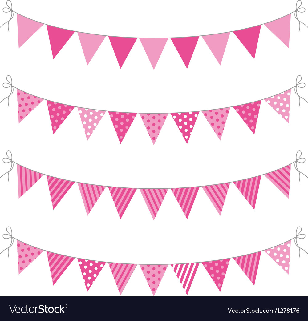 Pink bunting vector | Price: 1 Credit (USD $1)