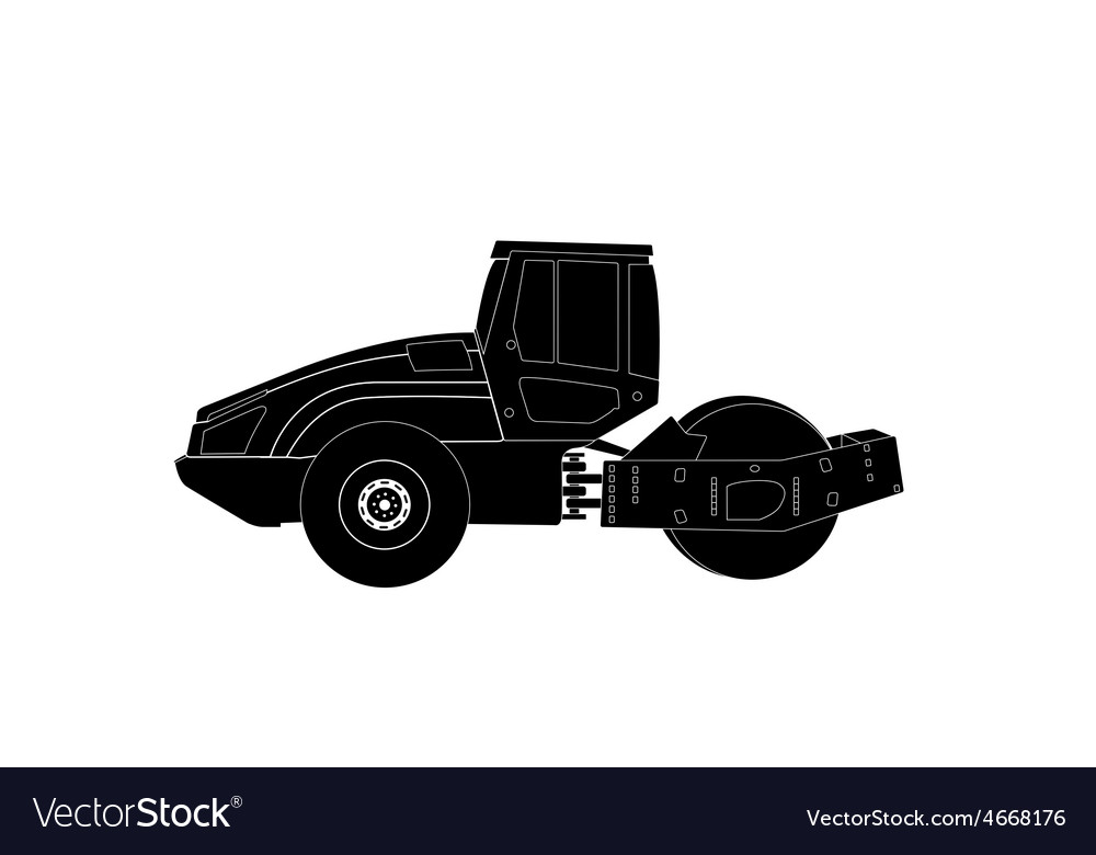 Rammer major construction rink asphalt vector | Price: 1 Credit (USD $1)