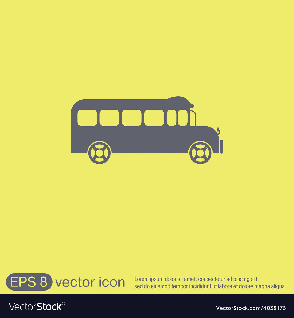 School bus symbol study icon transport vector | Price: 1 Credit (USD $1)