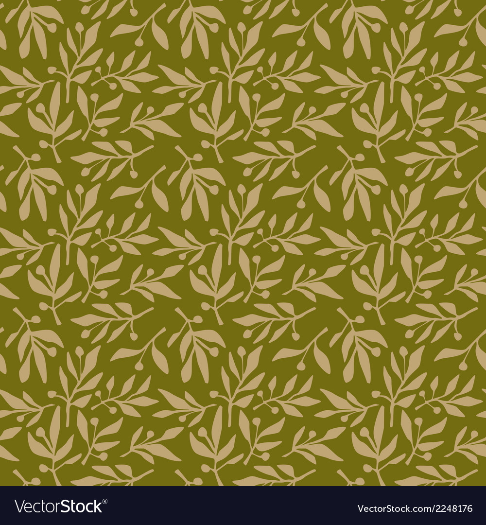 Seamless pattern olive branch vector | Price: 1 Credit (USD $1)
