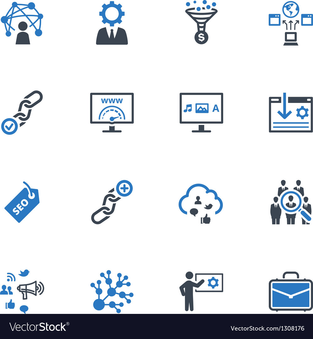Seo internet marketing icons vector | Price: 1 Credit (USD $1)