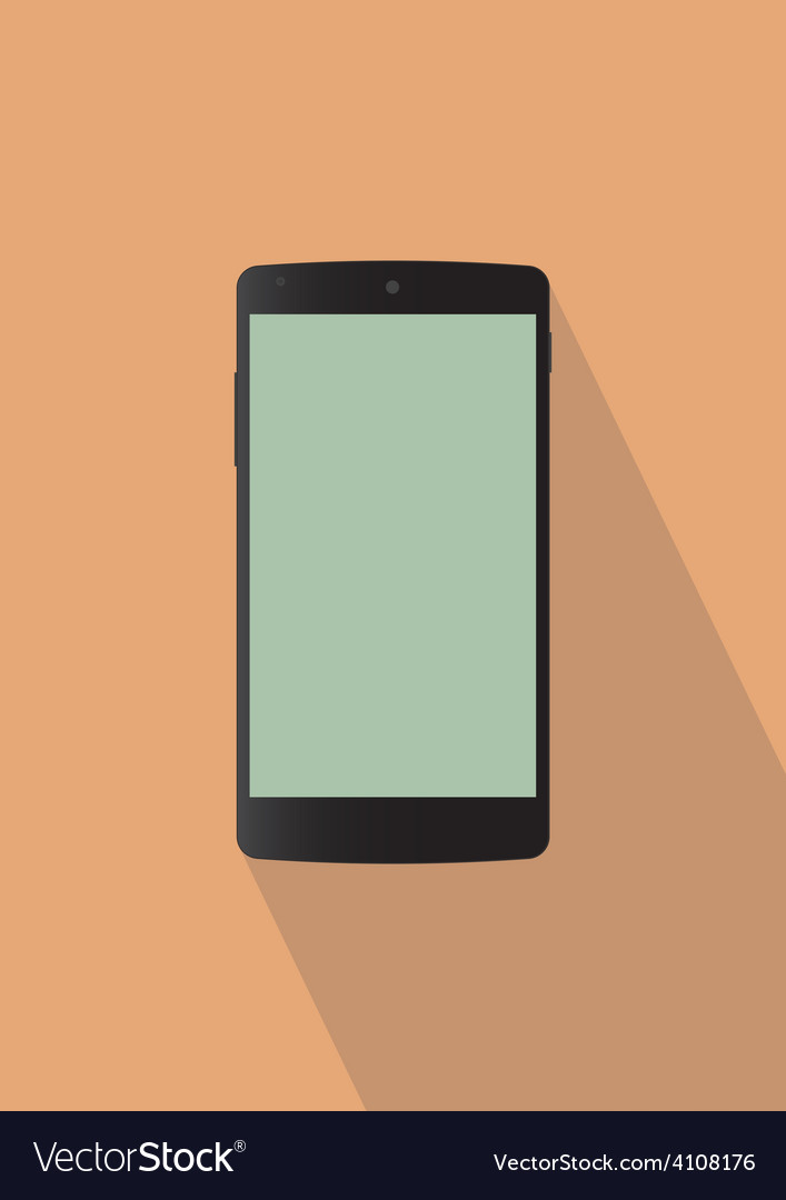 Typical back mobile phone vector | Price: 1 Credit (USD $1)