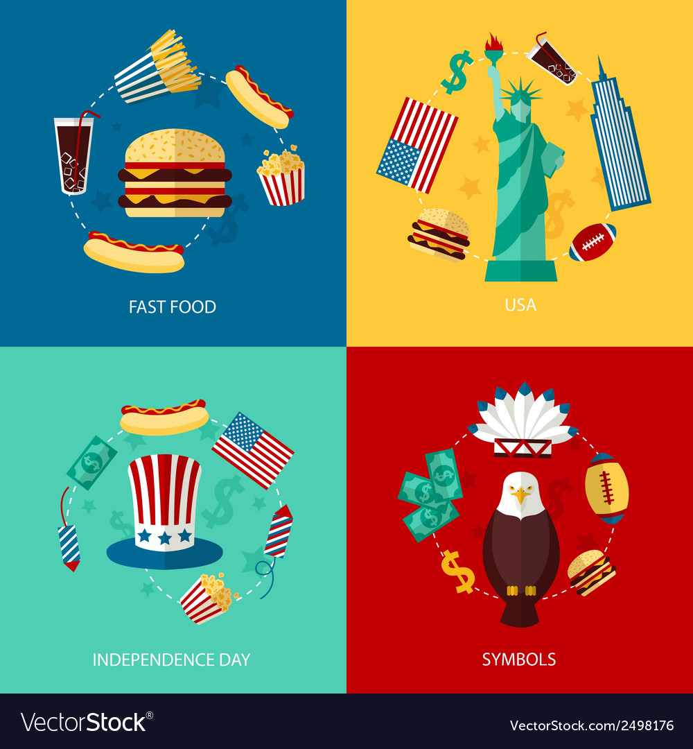 Usa flat set vector | Price: 3 Credit (USD $3)
