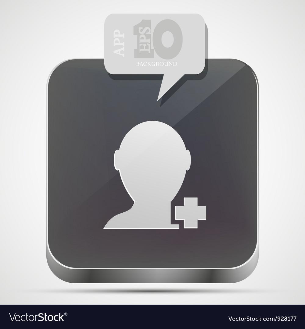 Add friend app icon vector   Price: 1 Credit (USD $1)