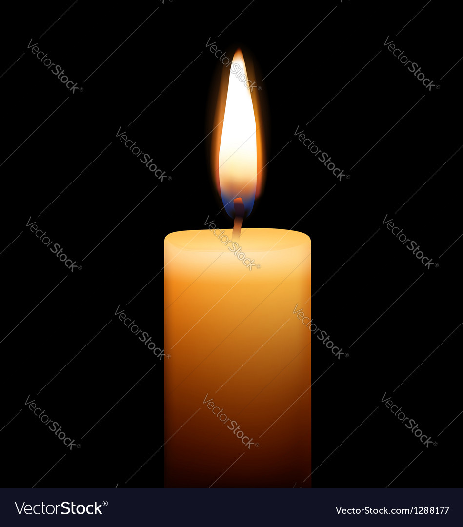 Candle on black background vector | Price: 1 Credit (USD $1)
