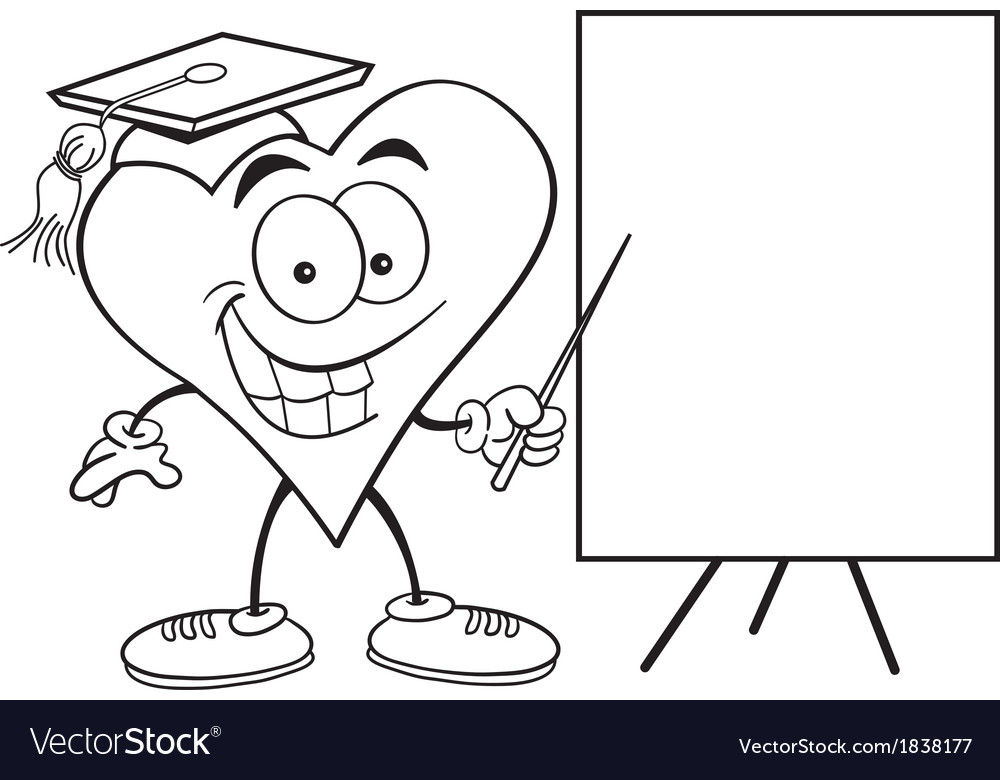 Cartoon heart with sign vector | Price: 1 Credit (USD $1)