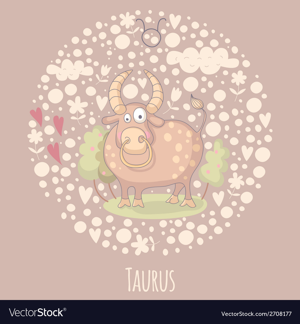 Cartoon of the bull taurus vector | Price: 1 Credit (USD $1)