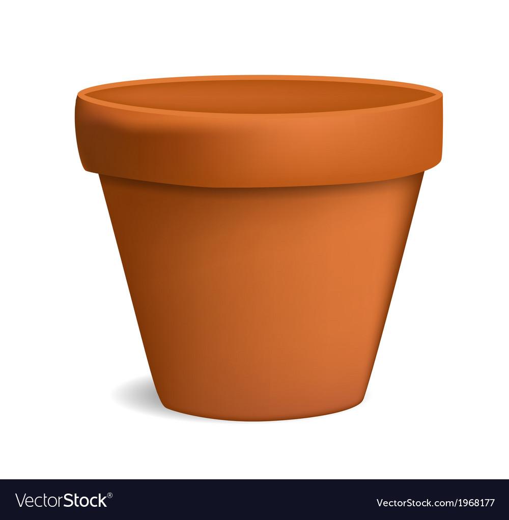 Empty flowerpot vector | Price: 1 Credit (USD $1)