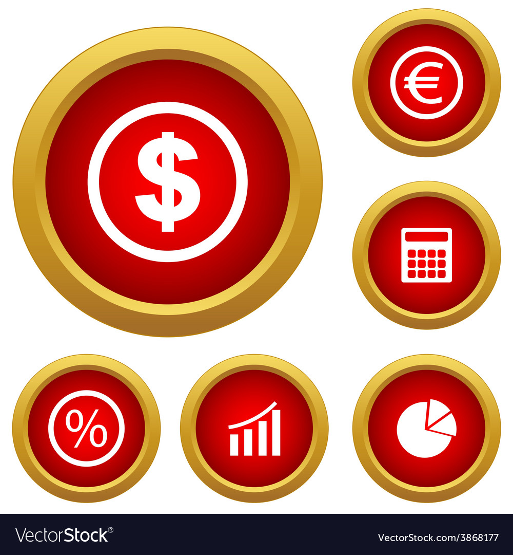 Finance set icon vector | Price: 1 Credit (USD $1)