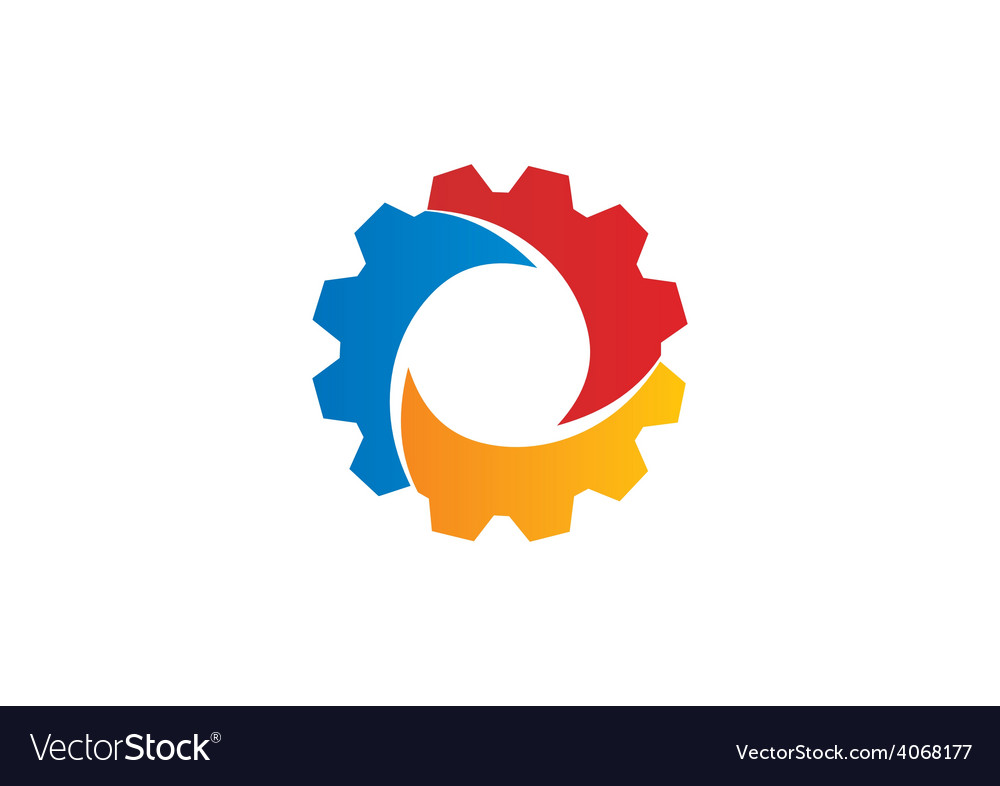 Gear abstract color work industry logo vector | Price: 1 Credit (USD $1)