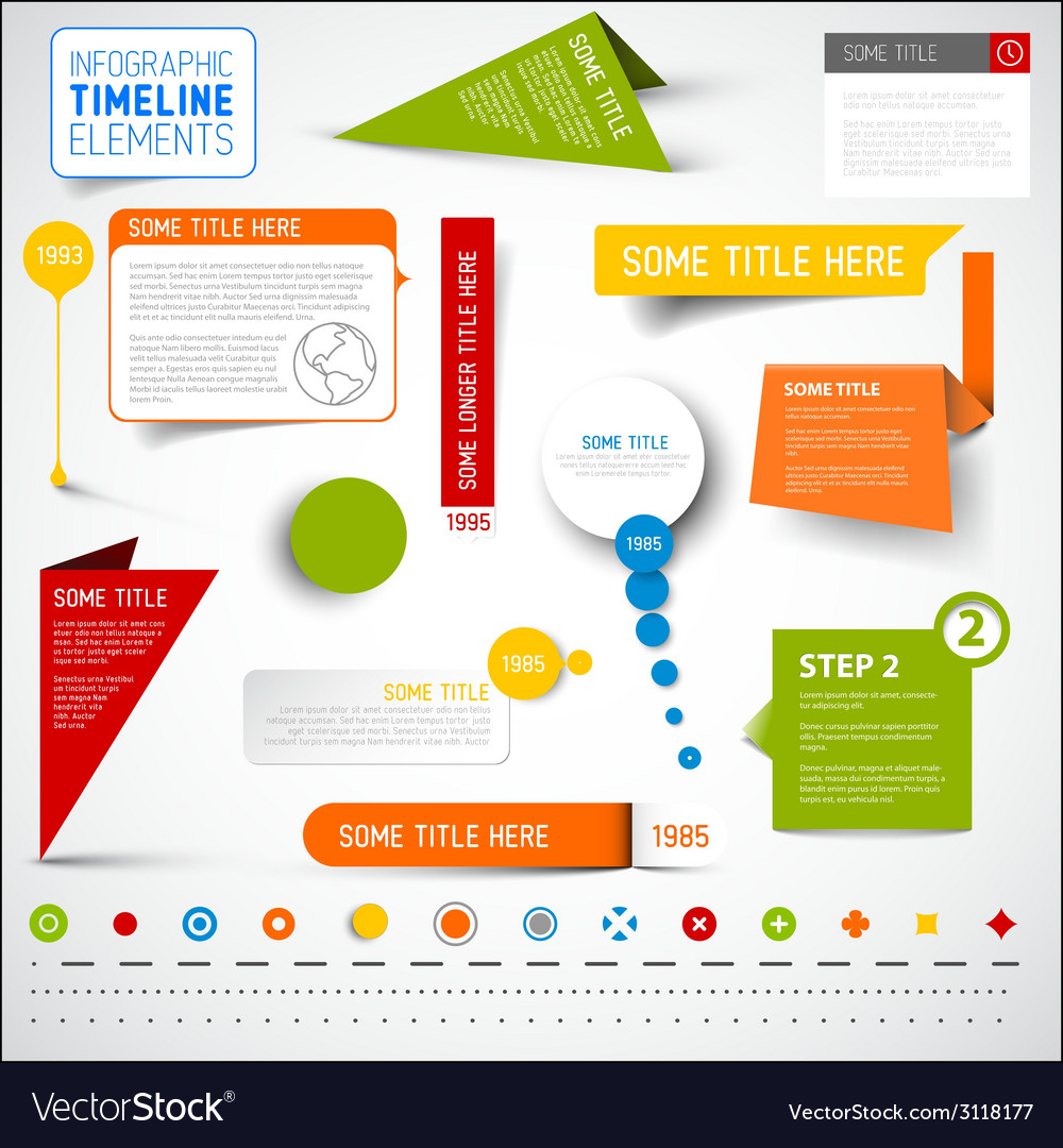 Infographic timeline elements template vector | Price: 1 Credit (USD $1)