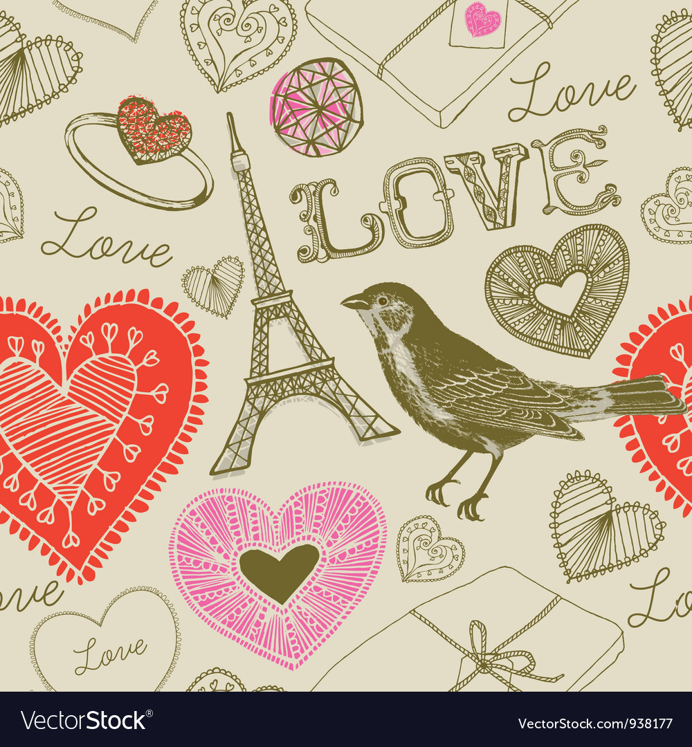 Love france background pattern vector | Price: 1 Credit (USD $1)