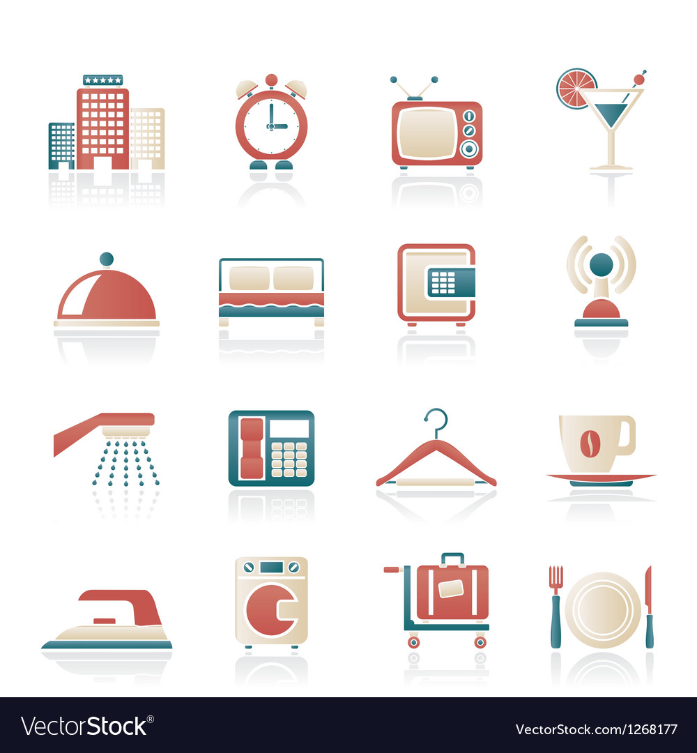 Motel and travel icons vector | Price: 1 Credit (USD $1)
