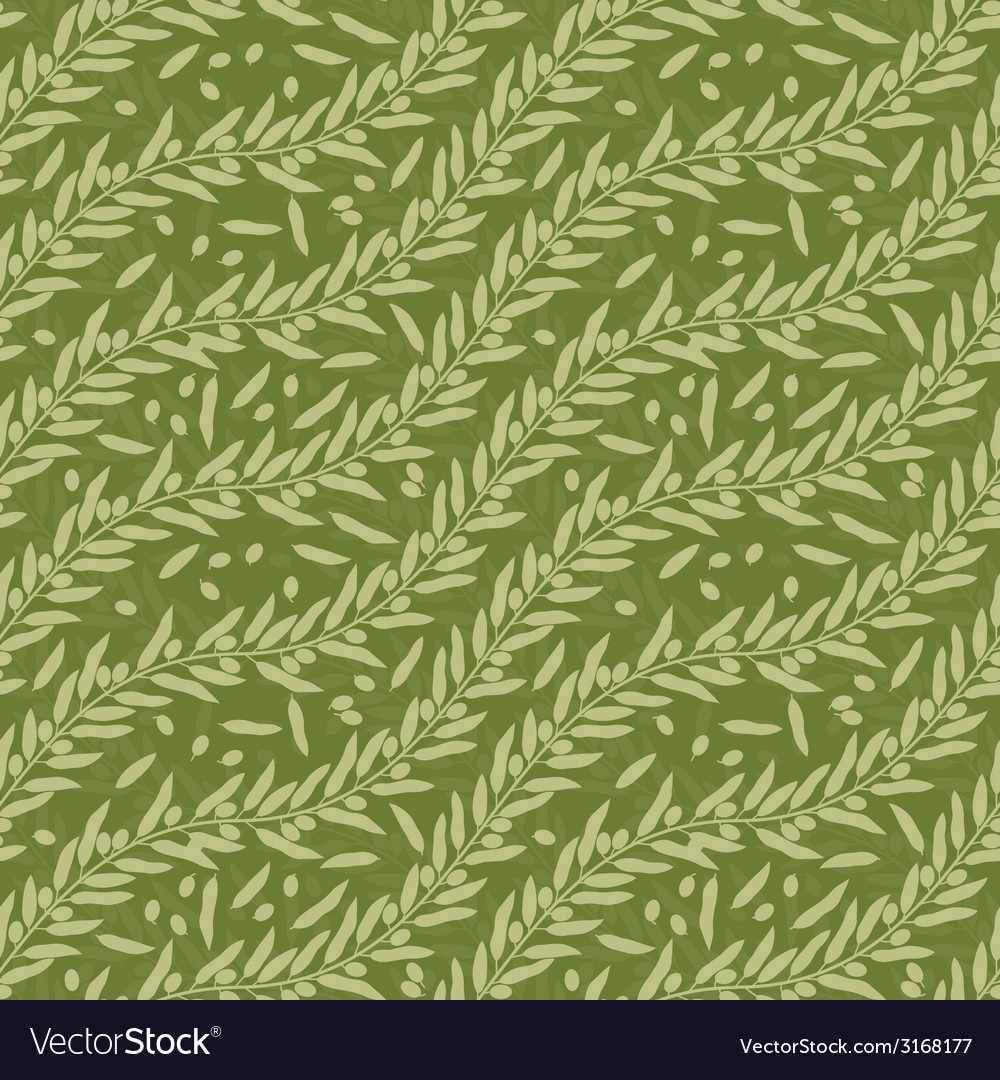 Olive leaf seamless texture vector | Price: 1 Credit (USD $1)