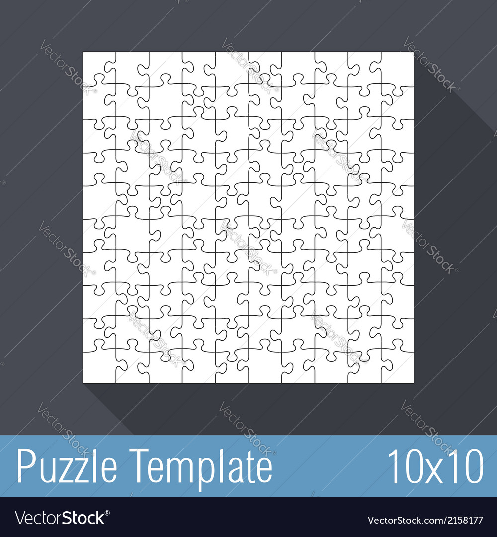 Puzzle template 10x10 vector | Price: 1 Credit (USD $1)