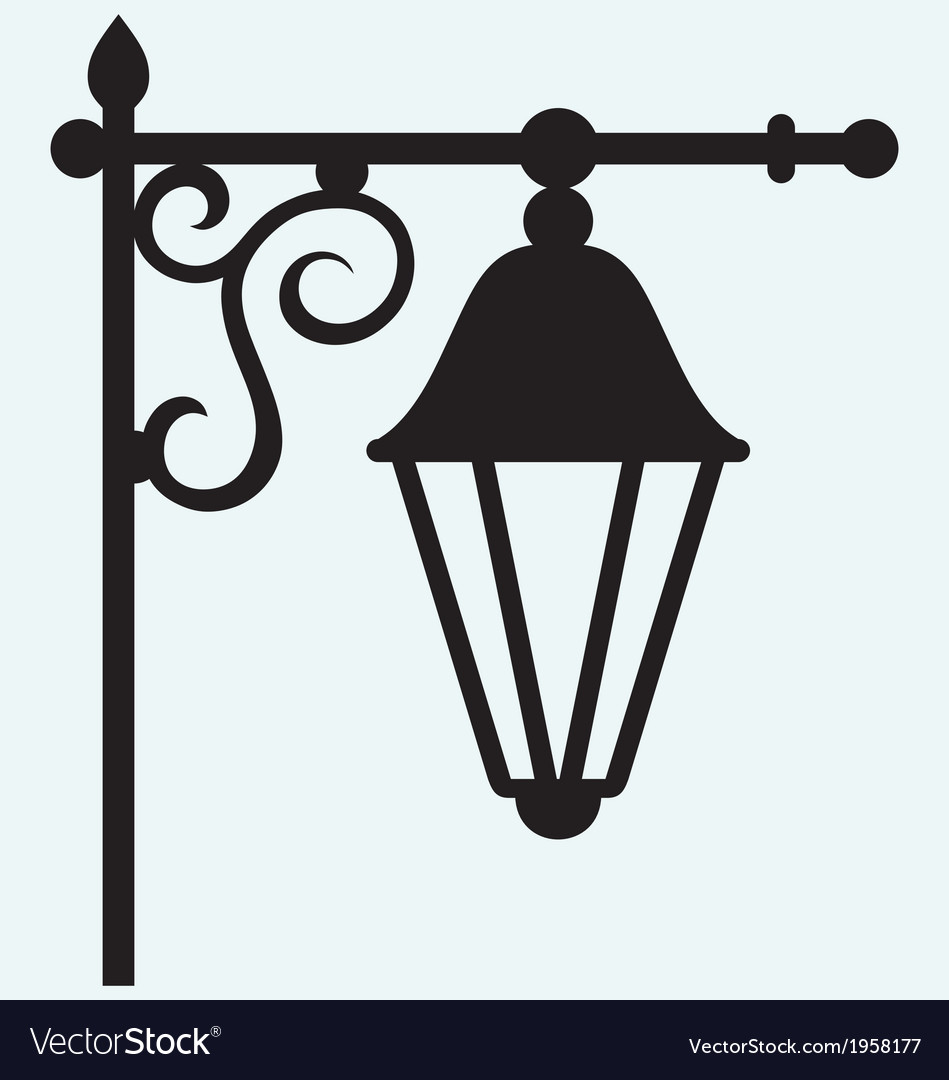 Silhouette lamp of wrought metal vector | Price: 1 Credit (USD $1)