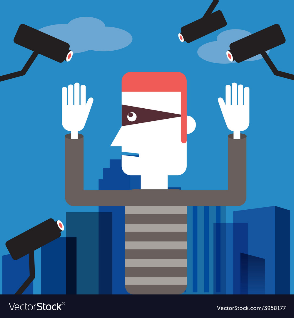 Spy camera cartoon vector | Price: 1 Credit (USD $1)