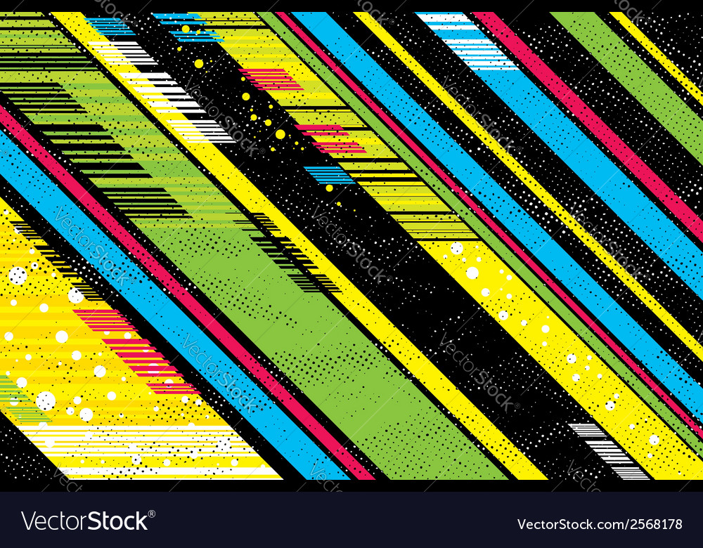 Background with black and color diagonals vector | Price: 1 Credit (USD $1)