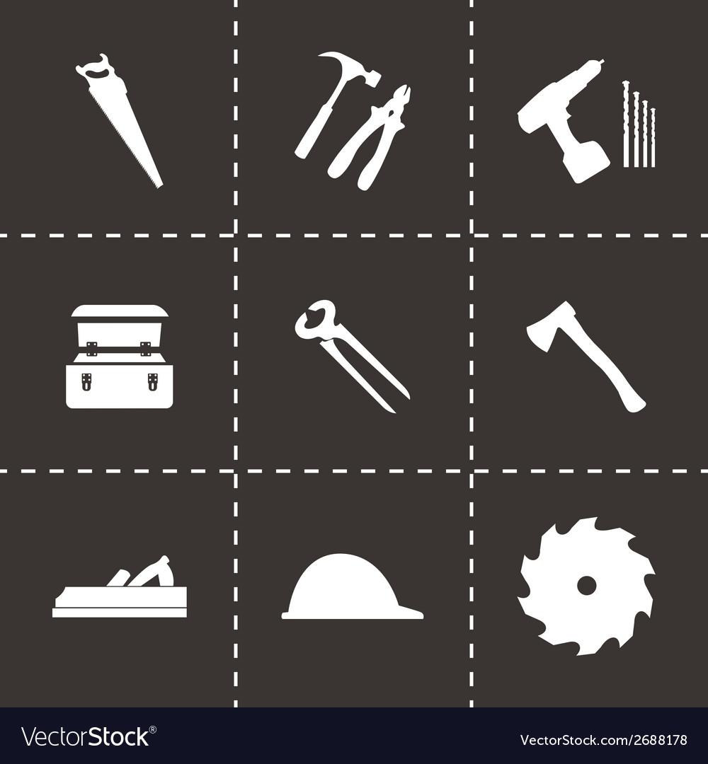 Black carpentry icons set vector | Price: 1 Credit (USD $1)