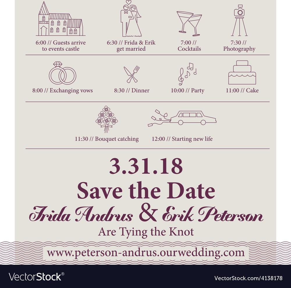 Classic elegant wedding invitation design template vector | Price: 1 Credit (USD $1)