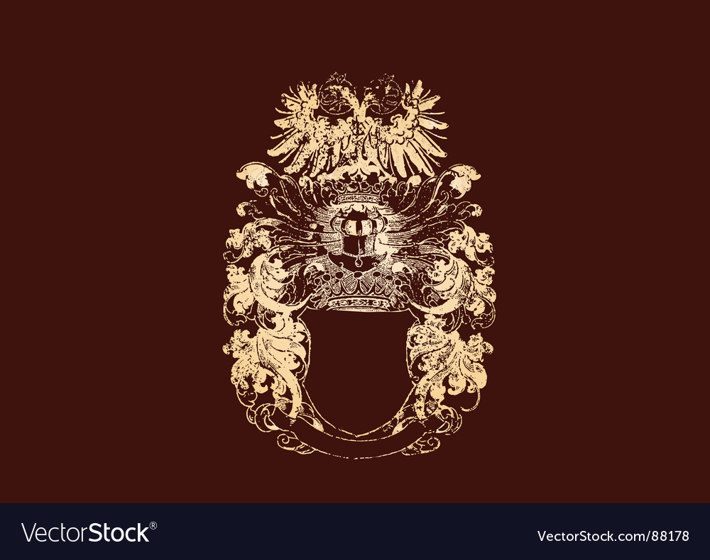 Golden crest vector | Price: 1 Credit (USD $1)