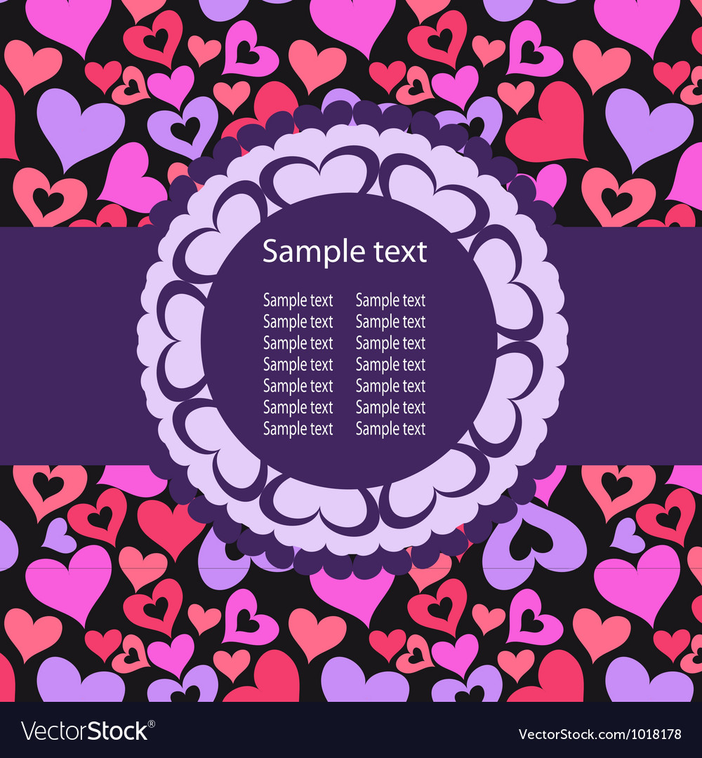 Hearts background ith sample text vector | Price: 1 Credit (USD $1)