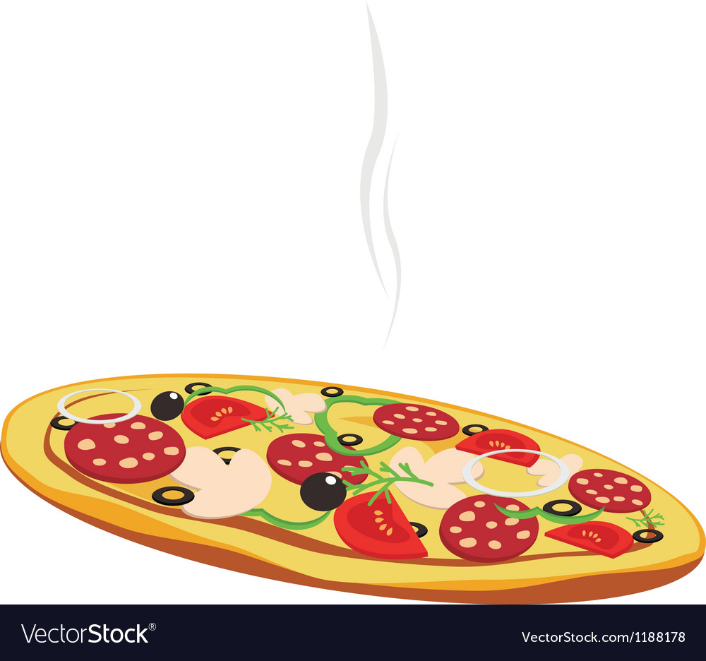 Pizza isolated on white background vector   Price: 1 Credit (USD $1)
