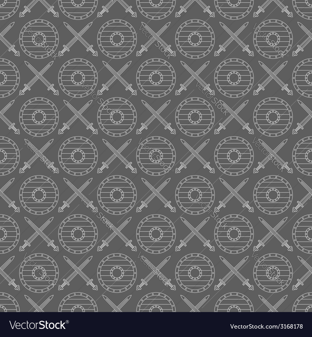 Seamless viking pattern 04 vector | Price: 1 Credit (USD $1)