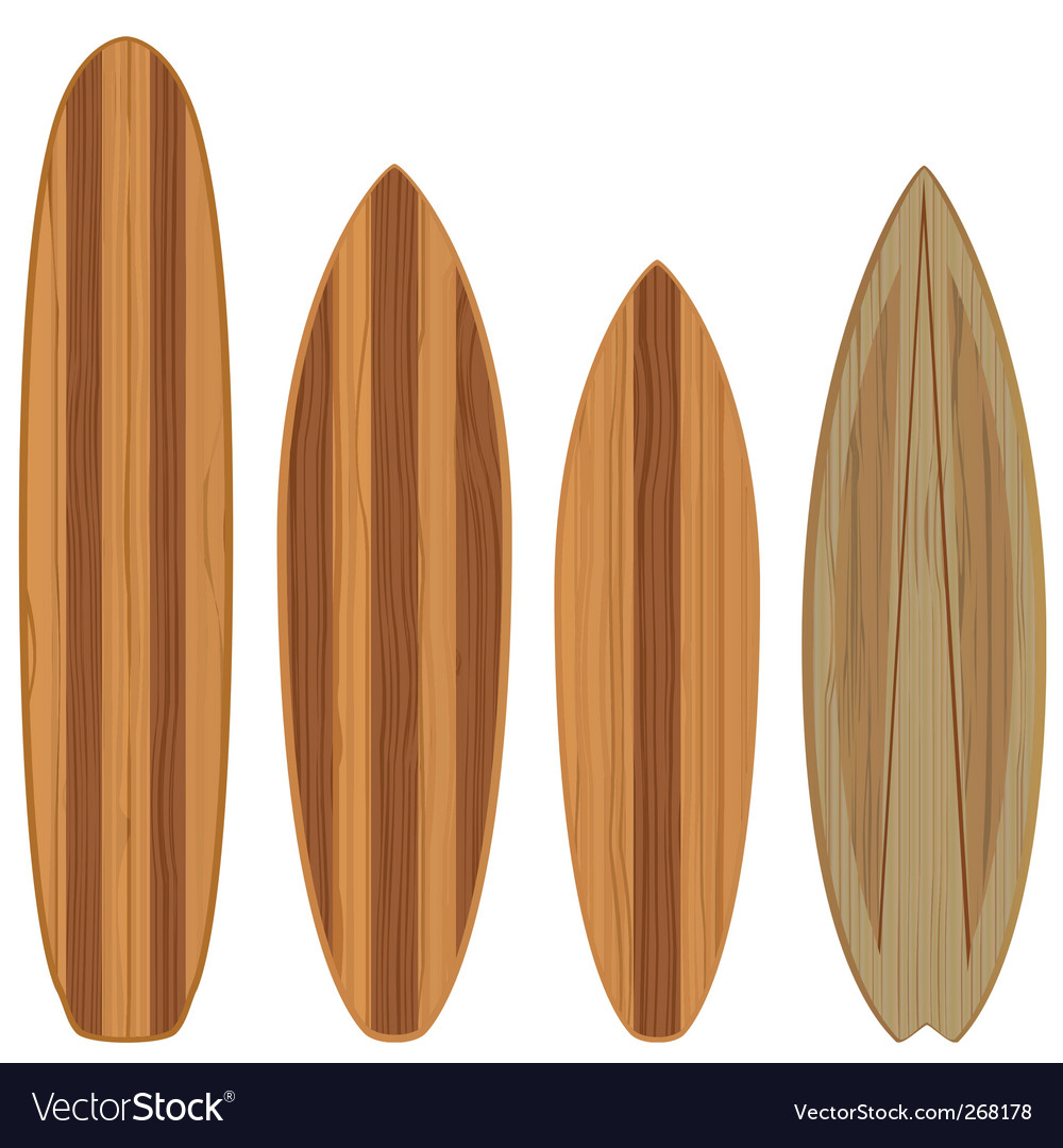 Wooden surfboards vector | Price: 1 Credit (USD $1)