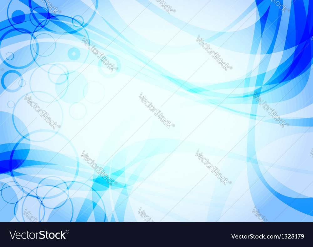 Abstract water wave background vector | Price: 1 Credit (USD $1)