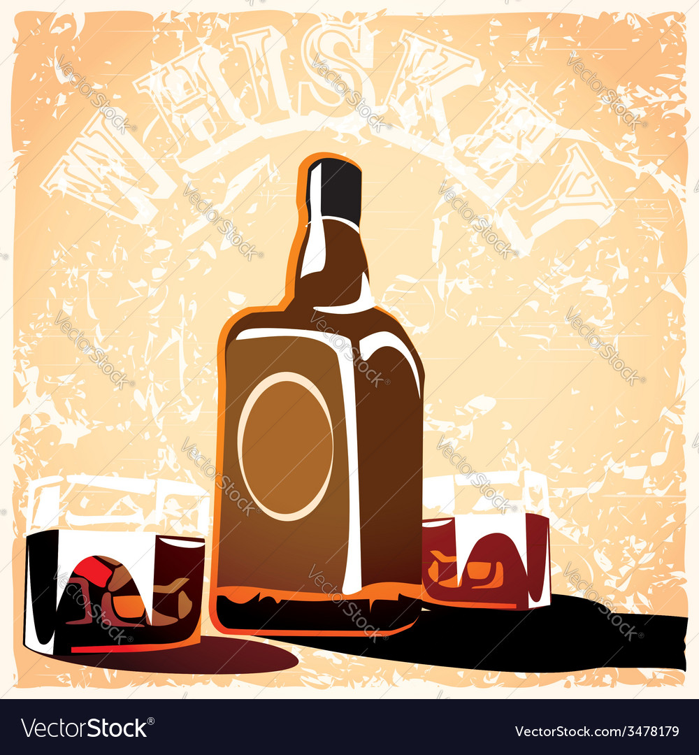 Bottle of old whiskey vector | Price: 1 Credit (USD $1)