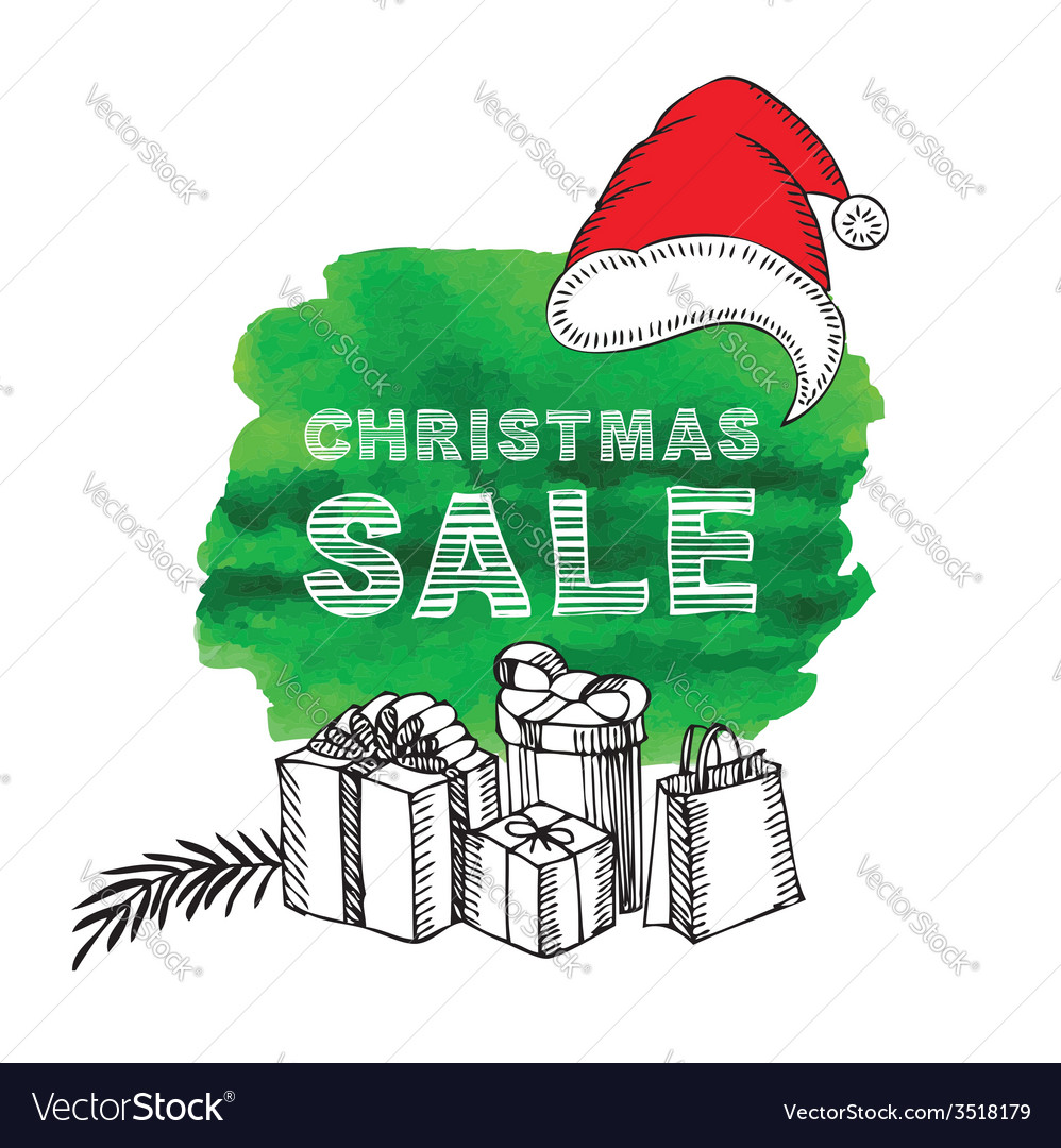 Christmas poster sale vector | Price: 1 Credit (USD $1)