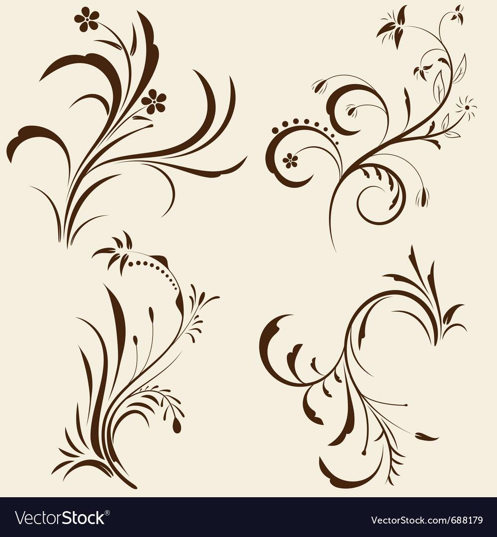 Decorative floral ornaments vector | Price: 1 Credit (USD $1)