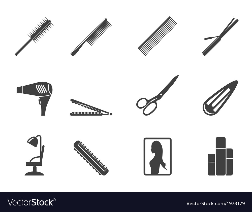 Hairdressing and make-up icons vector | Price: 1 Credit (USD $1)