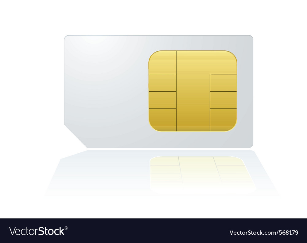 Mobile cell phone sim card vector | Price: 1 Credit (USD $1)